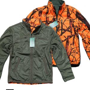 Μπουφάν Fleece Διπλής Όψης (Χακί – Παραλλαγή Πορτοκαλί) της VA